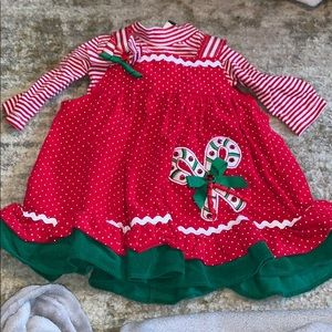 Two piece toddler Christmas dress